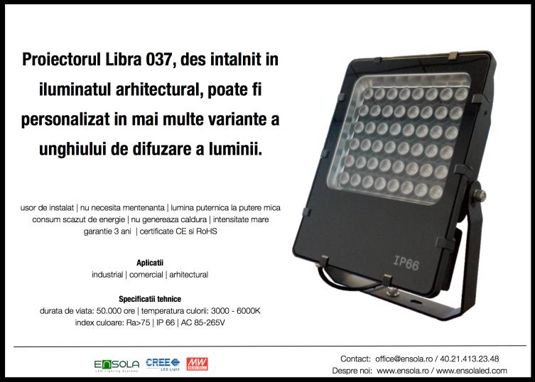Proiector_LED_Ensola_iluminat_arhitectural_perimetral