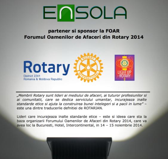Ensola partener FOAR, Rotary 2241