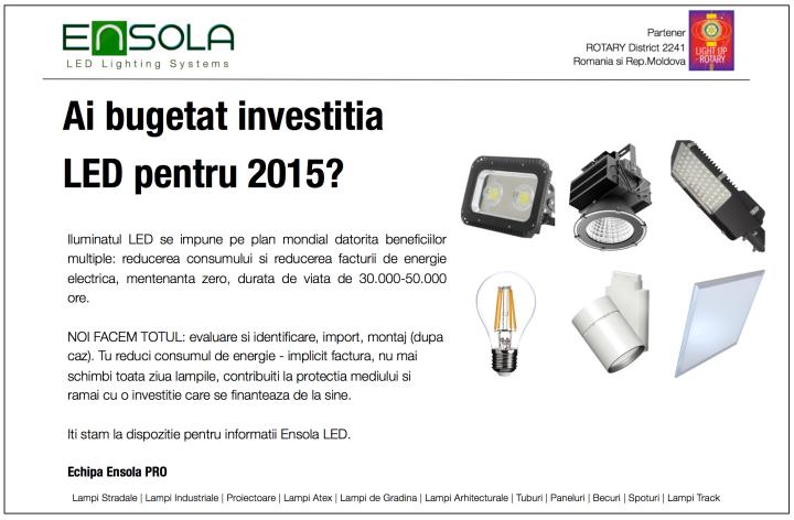 Ai bugetat investitia Ensola LED?